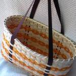 Large Handwoven Tote Basket in Oran..
